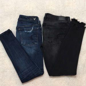 ❤️2items❤️American Eagle Distress Skinny Jeans- 4